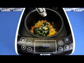 Рецепт приготовления запеканки со шпинатом в мультиварке VITEK VT-4209 BW