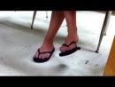 Candid 18yo Feet Flip Flops in Class