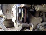 Замена задних тормозных колодок AUDI A6 C6