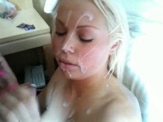 Blonde Gets Facial
