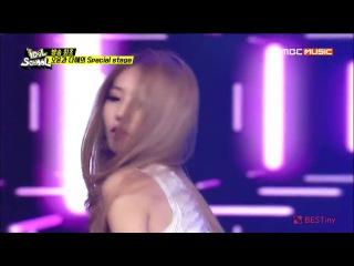 140902 BESTie Dahye & Halo Ooon - Now & Trouble Maker + Talk @ MBC Idol School