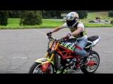 как научиться делать дрифт на мотоке.