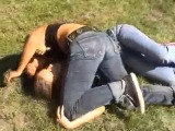 competitive female wrestling match - Orsi S. vs Sofia C (part 1)