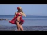 Мари Дэкокс - нудистка на пляже