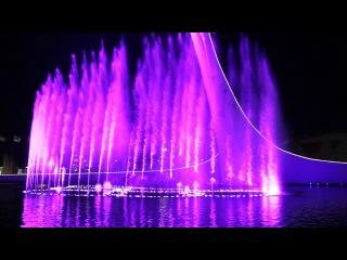Поющие фонтаны в Олимпийском парке Сочи. Попурри Майкл Джексон