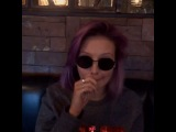 ...dad keeps trying to document my raging hangover. ??? #sunglassesinside