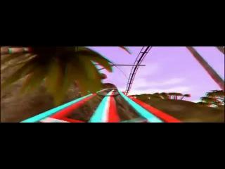 3Д Американские горки в раю Анаглиф 5D