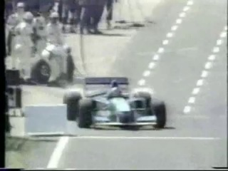 F1 1994 british gp schumacher´s 5s stop and go penalty