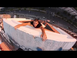 SCARIEST PARKOUR- Mustang Wanted Crane Climbs & Stunts Compilation 2014