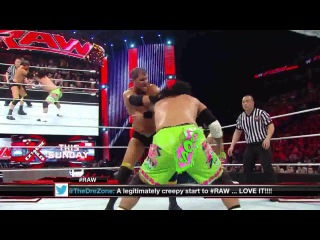 (WWEWM) WWE Monday Night RAW 28.04.2014: The Usos (c) vs. Curtis Axel & Ryback - WWE Tag Team Championship
