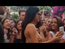 Video of Selena with fans outside her hotel in Ischia, Italy