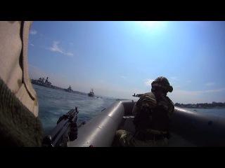 Морская Пехота День ВМФ 2014 Севастополь штурм корабля