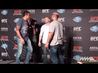 UFC® 180: Werdum vs. Hunt - Press Conference Staredowns