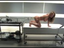 Oiled up hot blonde buttfucked with machinery