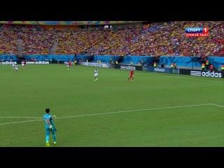 World Cup 2014. Групповой этап. Группа E. 3й круг. Гондурас - Швейцария 0-3 (Джердан Шакири)