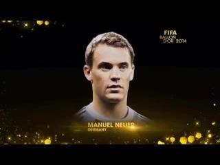 REPLAY- FIFA Ballon d'Or 2014 - Nominees Announcement
