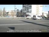 ДТП в Киеве. На Святошино перевернулась автоцистерна