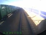 Трагедия на путях...В Самаре поезд сбил четверых подростков.2014