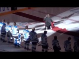 Mark Donnelly Trips Over Carpet at Penticton VEES Game 10-3-14