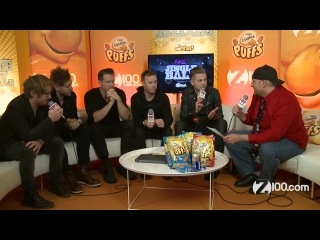 Backstage at iheartradio jingle ball z100. onerepublic plays roulette with what songs to perform!