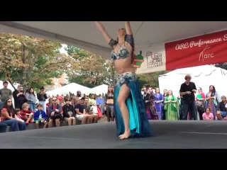 Victoria Teel at Saffron Dance performance on Clarendon Day