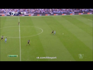 Манчестер Сити 4:1 Тотенхем   Английская Премьер Лига 2014/15   08-й тур   Обзор матча