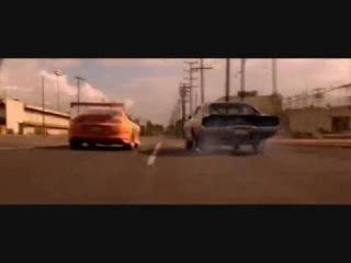 момент из кинофильма форсаж1 чарджер и супра (charger rt 1969 & supra) drag toyota dodge Japan vs America.mp4