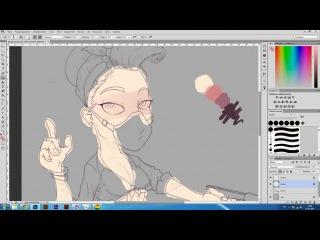 Процесс рисования deive (draw, pin up, girl, art)