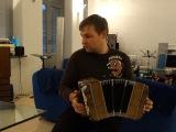 Владимир Бутусов играет танго кумпарсита на бандонеоне у меня дома