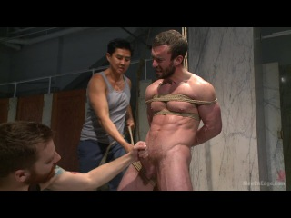Men on edge - edging a hot cop in a public restroom - mike gaite