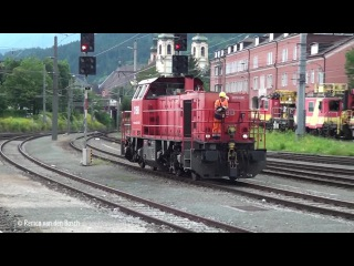 Trains at Innsbruck Westbahnhof 9 august 2014