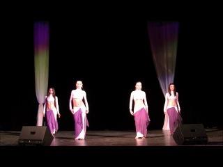 SAXARA Отчётный концерт 2013 Восточный танец вчетвером