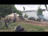 Военный спектакль в парке