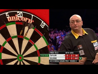 Phil Taylor vs Andrew Gilding (World Grand Prix 2014 / Second Round)