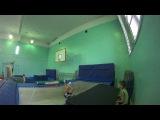 trampoline four screws in slow motion