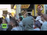29.09.2014-Ruptly.В Белграде прошло массовое шествие противников гей-парадов.(Дата-29.09.2014г.,1530мск.YouTube-RT на русском)