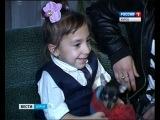 Депутат подарил собаку Полине Скорик - самой маленькой курской девочке