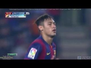 Neymar'ın çakallık yaparak gol atmaya çalışması