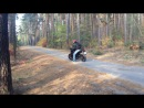 Kawasaki ER6-n / shumov / riding in the forest