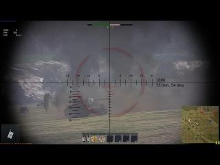 War Thunder 1.43 - Затащил бой на Tiger H1/Тигр нагибает