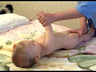 Детский массаж и развивающая гимнастика 6-9 месяцев