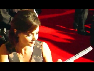 Jenna louise coleman arriving at the red carpet for the 2015 bafta