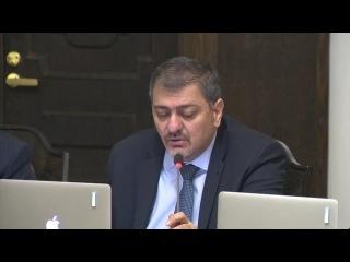 Вице-премьер правительства Армении Ваче Габриелян выступил на заседании кабмина 25 декабря 2014 года