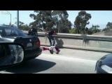 #6 Street Knockout | Дорожный файтинг Черный мужик VS Мексов Los Angeles Freeway