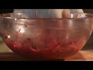 05.Свекольно-картофельные драники с розовой треской и яйцом пашот