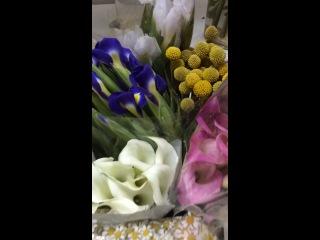 Ассортимент цветов в срезке