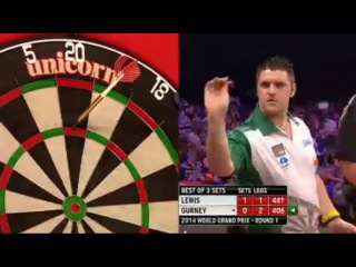 Adrian Lewis vs Daryl Gurney (World Grand Prix 2014 / First Round)