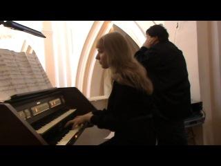 Органный концерт 15.08.2014 г. Лия Якушева ,Александр Архиповский - часть 1