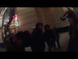 Вот это нах эксклюзив!)))Драка,Метро.Бродяга Фишай * Новый год в Москве 2015