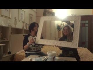 Как сделать рамку для зеркала из плинтуса